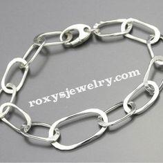 Sterling Silver Oval Link Bracelet, $68