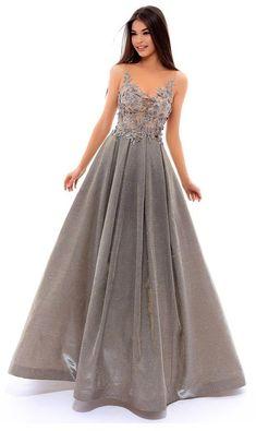 Tarik Ediz - 93480 Floral Appliqued Pleated Long Prom Dress (sleeveless, fitted, sheer neckline and back, pleated skirt, floor length, illusion jewel neck, natural waist, ballgown)
