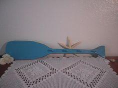 Rustic Beach House Turquoise Aqua Teal Peg Hook Boat Oar Blue Hat Jewelry Key Rack Cottage Coastal Boy Bedroom Home Decor