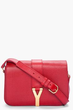 Check out Medium YSL Chyc Flap Bag in Black Textured Leather at ...