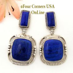 Four Corners USA Online - Natural Lapis Lazuli Native American Indian Navajo Sterling Silver Post Earrings Jewelry by Bennie Ration, $267.00 (http://stores.fourcornersusaonline.com/natural-lapis-lazuli-native-american-indian-navajo-sterling-silver-post-earrings-jewelry-by-bennie-ration/)