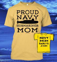 Navy Submariner Mom Shirts & Hoodies! NavyMomShirts.com #Navy #Submarines #Submariners #NavyMom