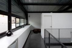 black white exposed interior modern character design