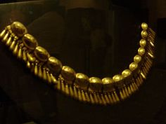Monte Alban, Tomb 7 Gold Necklace In The Santo Domingo Convent And Monastery Oaxaca Mexico.