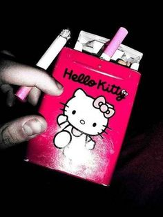 Hello Kitty Cigarettes. They are pink and come in an awesome tin. I would use it even after they were gone.