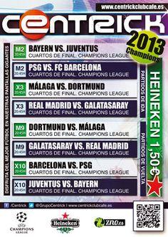 Pantallas Gigantes en Centrick Club Café. Disfruta del mejor fútbol a través de las múltiples pantallas con tu Heineken al mejor precio: 1,50 euros.