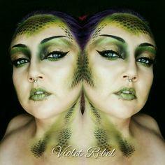 Seven Deadly Sins. Envy. Snake makeup @violet.rebel on instagram