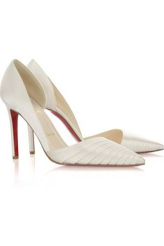satin pumps | Christian Louboutin Bigorno 100 satin pumps - My Color Fashion  LOVE LOVE LOVE AGAIN!!!! :)