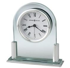 Howard Miller Brinell II Alarm Clock. h1Howard Miller Brinell II Alarm Clock_h1The Howard Miller Brinell II Alarm Clock is a glass arch tabletop alarm clock with brushed and polished silver finished side posts on a glass base, and a silver base plate with pol.. . See More Alarm Clocks at http://www.ourgreatshop.com/Alarm-Clocks-C1126.aspx