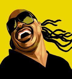 Stevie Wonder, musician, by Francisco Javier Olea