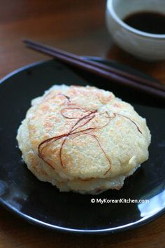 Recipe: Korean potato pancakes, decorated with dried red chili thread