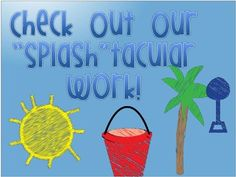 FREEBIE!!  Here are three signs to display student work if you have a beach or ocean theme classroom.Enjoy this freebie!