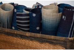One Kings Lane - Artisanal: Naturally Dyed Textiles - Sazanami Indigo Table Runner