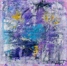 Night Lights I 80x80 cm 1.999 dkk - Art by Lønfeldt -  original abstract painting, modern textured art, colorful