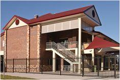 Ipswich Grammar School by Birchall & Partners Architects.  Architects Ipswich | Architects Brisbane | Architects Gold Coast Brisbane Architects, Grammar School, Gold Coast, Building Design, Architecture Design, Buildings, Construction, Outdoor Decor, Home