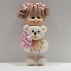Miss Mollie / Fimo toppers > Babes & kids > I love my ted