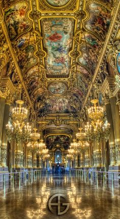 Hall of MIrrors ~ inside the Versailles Castle, France