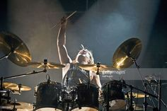 APOLLO Photo of MOTORHEAD and Mikkey DEE, Drummer Mikkey Dee performing on stage