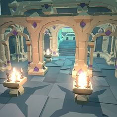 Buy Ancient Palace Set - Faceted Style by BITGEM on This is a beta release of a faceted, VR-ready construction kit for building ancient multi-story palace. The building . Environment Concept Art, Environment Design, Low Poly Games, Polygon Art, 3d Modelle, Background Drawing, Low Poly 3d Models, 3d Fantasy, Environmental Art
