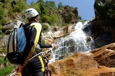 Abseiling, rapelling, if you have the guts.