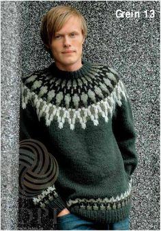- Icelandic Grein (Branch) Mens Wool Sweater - Tailor Made - Nordic Store Icelandic Wool Sweaters - 1 Icelandic Sweaters, Wool Sweaters, Fair Isle Knitting, Hand Knitting, Fair Isle Pullover, Knitting Designs, Wool Yarn, Knitwear, Knitting Patterns