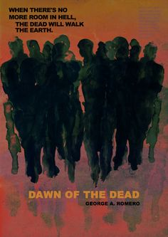 """Posters for """"Dawn of the Dead"""" - 1978 by George A. Romero Artist: Tony Stella, an Italian Illustrator who creates expressive hand painted film posters. #Yellowmenace Exclusive interview w/ Tony Stella on #YMBlog (19 images) + http://yellowmenace8.blogspot.com/2015/01/art-interview-antonio-stella-essential.html"""
