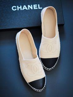 Chanel White Espadrilles