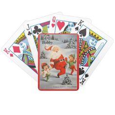 Stocking Stuffer Christmas YOUR NAME Deck of Cards - Xmas ChristmasEve Christmas Eve Christmas merry xmas family kids gifts holidays Santa