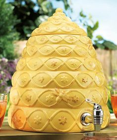 Take a look at this Yellow Beehive Drink Dispenser on zulily today!