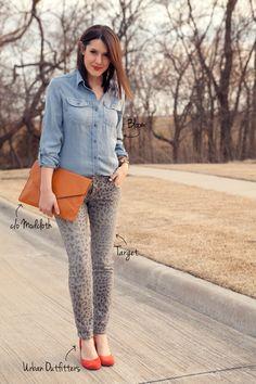 leopard jeans, target