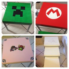 Coffee tables for gamers Minecraft Super Mario Moviestar Planet