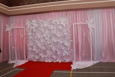 Back Drop Paper Flowers great Setup for Pictures or Table