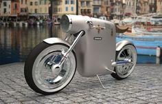 Ossa monocasco vintage electric bike concept by Art-Tic