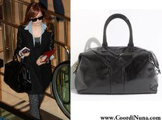 Yves Saint Lau Easy Bag In Patent Black 1 095 00