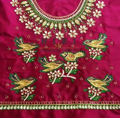 Cutwork Blouse Designs, Kids Blouse Designs, Hand Work Blouse Design, Simple Blouse Designs, Stylish Blouse Design, Kids Dress Wear, Kids Wear, Crewel Embroidery, Hand Embroidery Designs