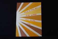 SALE Psalm canvas board painting by GalisTravelTheWorld Psalm 118, Psalms, Canvas Board Painting, How To Find Out, How To Make, Wisconsin, Boards, Artist, Etsy