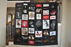 Twilight tshirt quilt