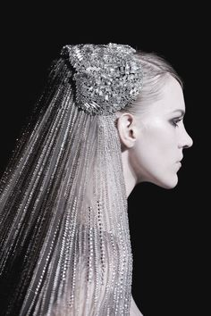 Nicole Pollard is the bride at Elie Saab | Haute Couture, Fall 2013.