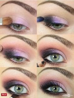 How gorgeous is this two-toned pink and black smokey eye? Get the look with makeup from Duane Reade.