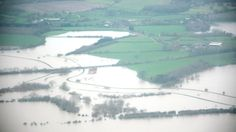 Arun 2014 - New aerial photos of the flooded river Arun have been taken by the Environment Agency.   They show the Arun valley south of Pulborough in West Sussex