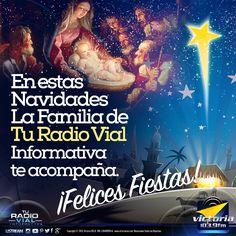 En #Navidad la familia de #TuRadioVialInformativa te acompaña. Somos #Victoria1039FM #FelizMartes