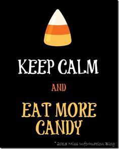 Keep Calm Free Halloween Printable