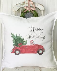 Farmhouse Christmas Decor Pillow Cover by SimplyFrenchMarket c17b9381989
