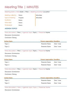 Business Meeting Agenda Orange Design  Organize