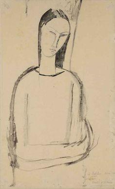 AMEDEO MODIGLIANI (1884-1920) FEMME AUX BRAS CROISÉ