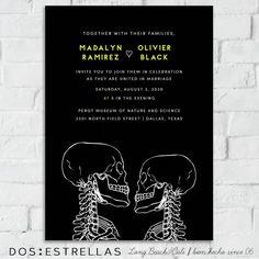 20 best wedding invitations by dos estrellas images on pinterest le radiograph black til death skeleton couple wedding engagement save the stopboris Choice Image