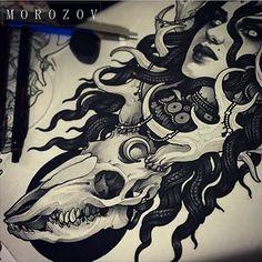 #tattoo#tattoos#tattooart#tattooflash#art#flash#sketch#drawing#mv#morozov#mvtattoo#skull#deer#portrait#girl#witch#dark #ink#татуировка#тату#эскиз#эскизытатуировок#морозов