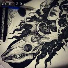 #tattoo#tattoos#tattooart#tattooflash#art#flash#sketch#drawing#mv#morozov#mvtattoo#skull#deer#portrait#girl#witch#dark #ink#татуировка#тату#эскиз#эскизытатуировок#морозов