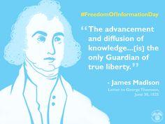#HappyBirthday James Madison on this #FreedomOfInformationDay: Manage your info w/ #mySocialSecurity www.ssa.gov/myaccount/