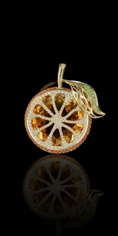 Beauty Bling Jewelry - Master Exclusive Jewelery – Collection – Fruits and berries citrine, orante sapphires, diamonds - High Jewelry, Bling Jewelry, Jewelry Art, Antique Jewelry, Vintage Jewelry, Jewelry Design, Fashion Jewelry, Statement Jewelry, Fashion Earrings